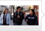 Photo of students talking as they walk on campus. Link to Ways to Give.